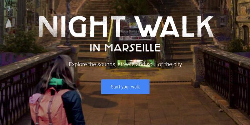 night walk google marseille
