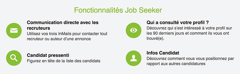 Linkedin Job Seeker recherche emploi