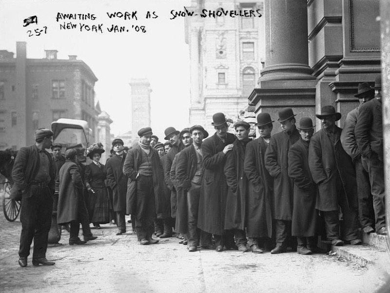 Line for employment 1908 New York