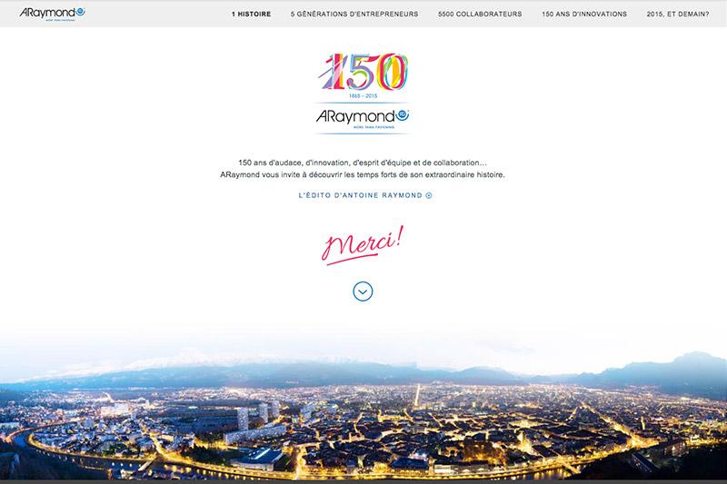 araymond 150 ans site responsive par La Haute Société