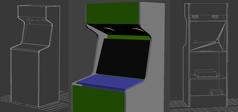 borne arcade plans
