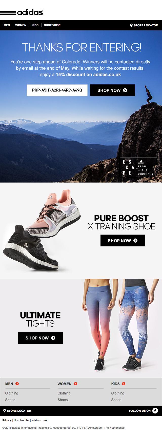adidas mailing wanderlust