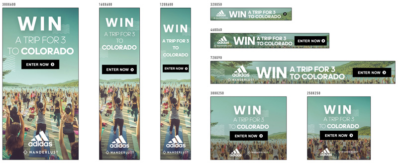 escape from the ordinary adidas banners