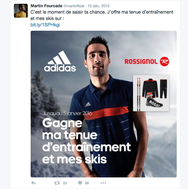 fourcade adidas outfit competition twitter