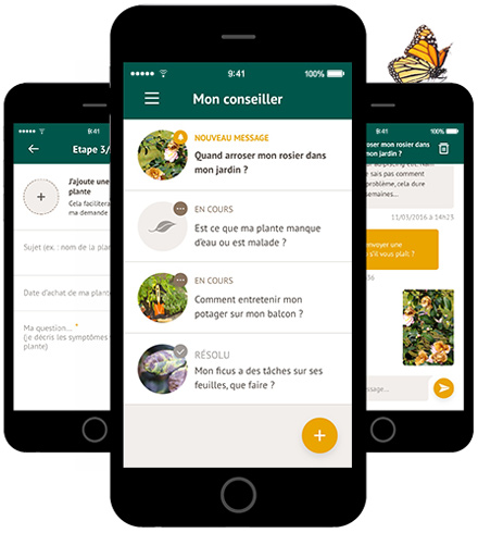 application botanic jardinage la haute societe