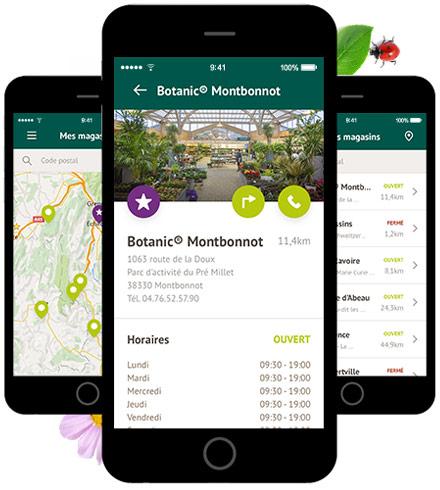 botanic jardinage application la haute societe