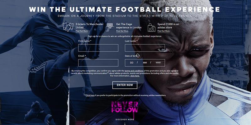 adidas blue blast football experience
