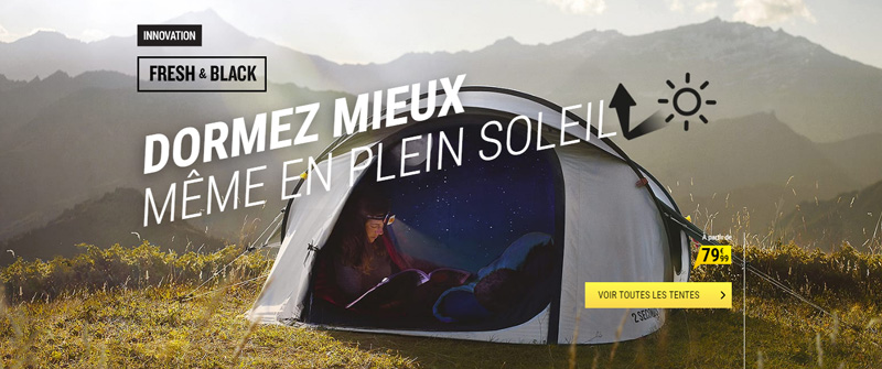 quechua tente fresh and black