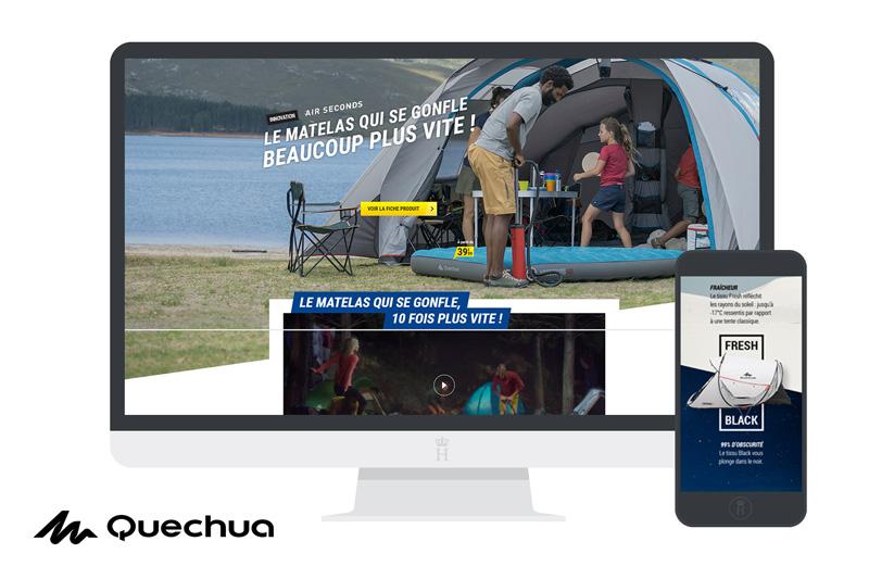 quechua landing pages