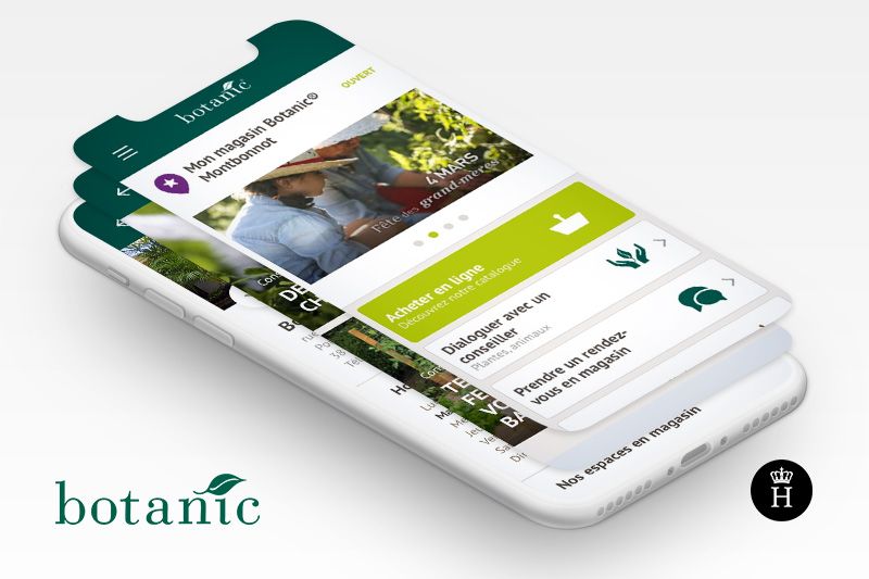 botanic jardinerie animalerie application mobile