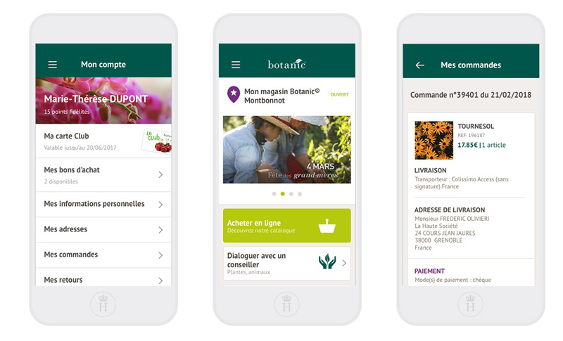 botanuic jardinerie animalerie application mobile