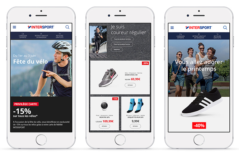 intersport landing pages