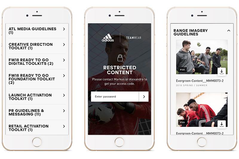 adidas B2B teamwear media locker