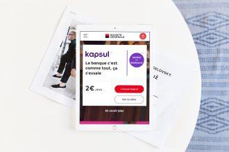 Kapsul déployé par La Haute Société sur le digital